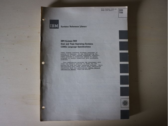 IBM System/360 – Disk And Tape Operating Systems, COBOL