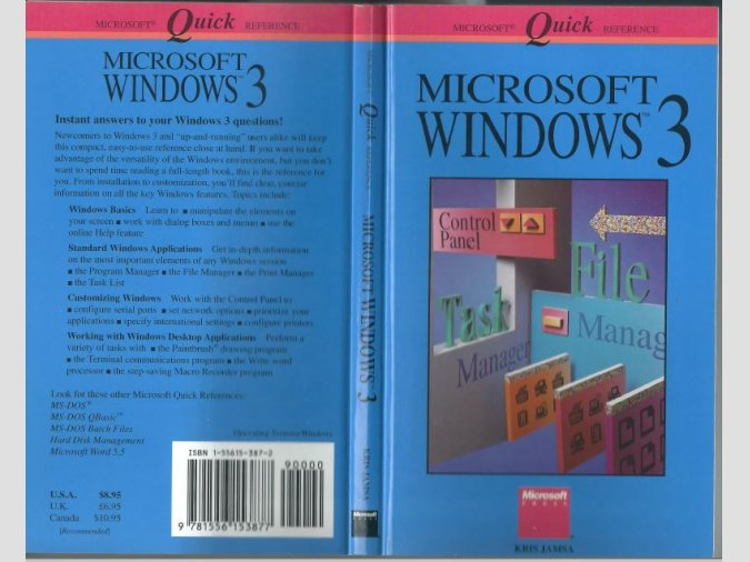 Libro MICROSOFT WINDOWS 3 Quick Reference