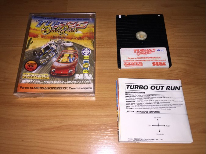 Turbo Out Run juego original Amstrad CPC