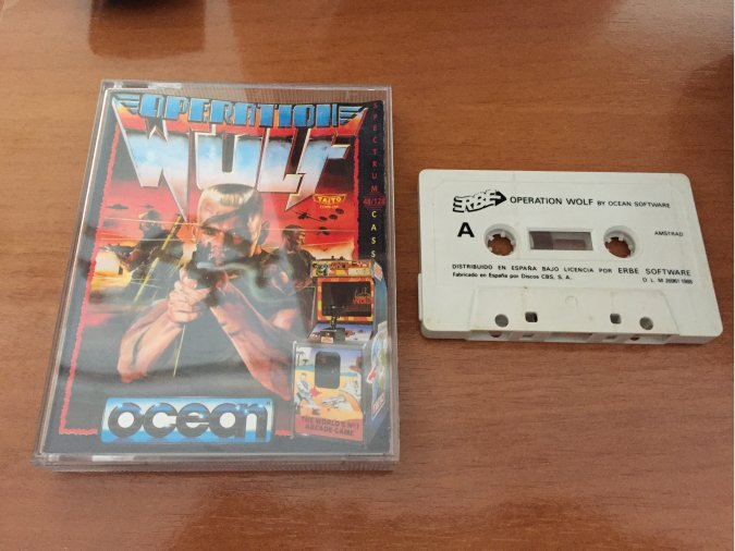 Operation Wolf juego original Amstrad