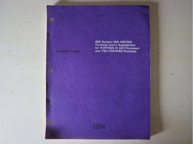 IBM System/360 OS/TSO). FORTRAN supplement