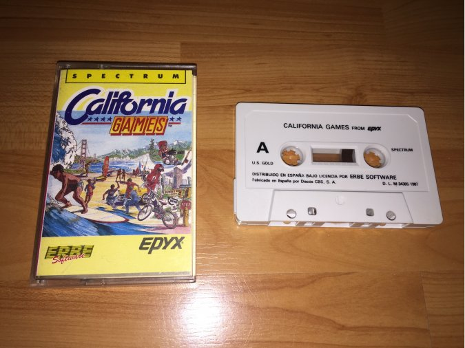 California Games juego original Spectrum