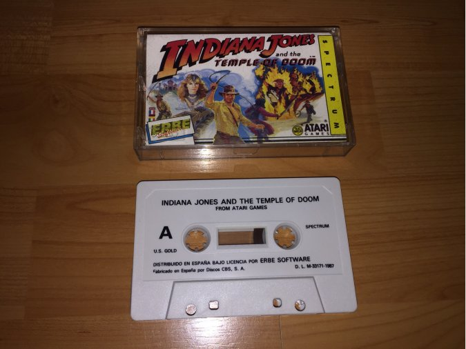 Indiana Jones y el Templo Maldito juego original Spectrum