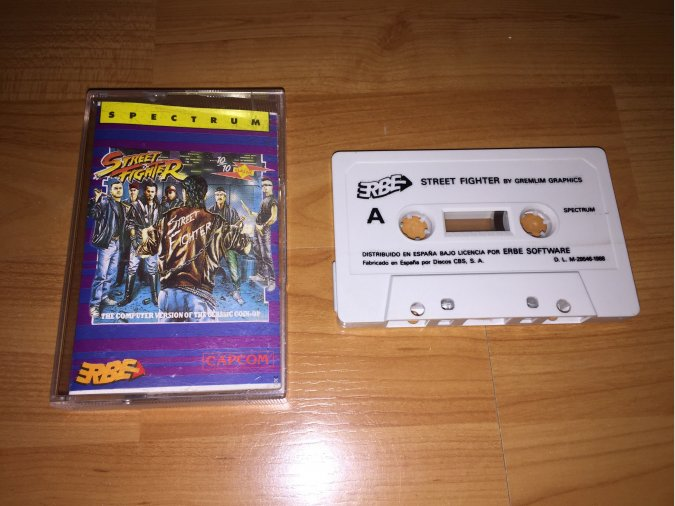 Street Fighter juego original Spectrum