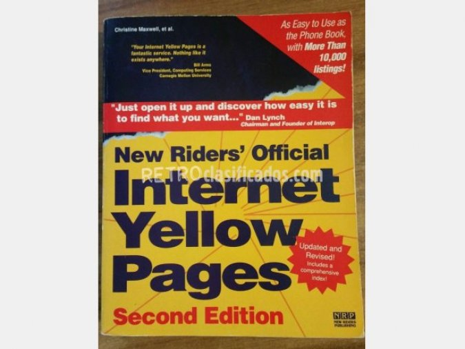 "libro ""Internet Yellow Pages"""