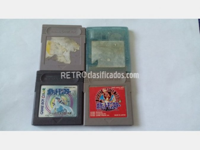 GAMEBOY POKEMON ROJO PLATA AMARILLO GLAS