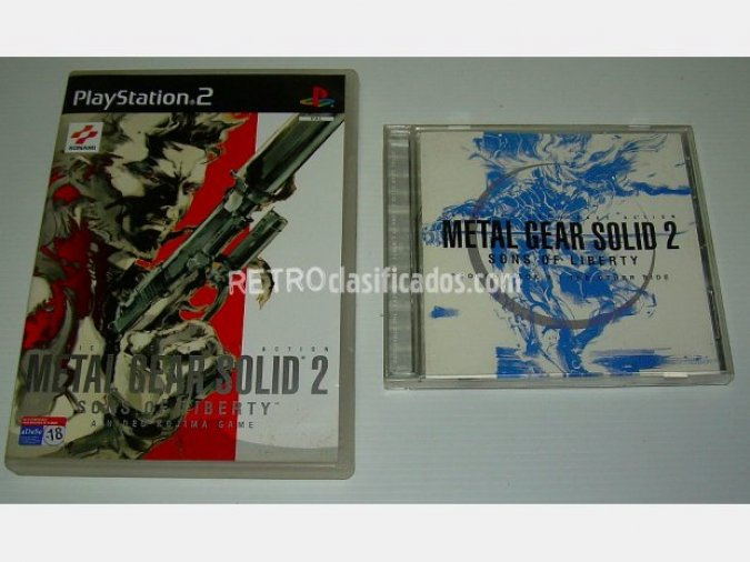 Metal Gear Solid 2 + DVD + BSO/OST
