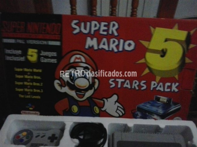 SNES SUPER MARIO 5 STARS PACK PAL.
