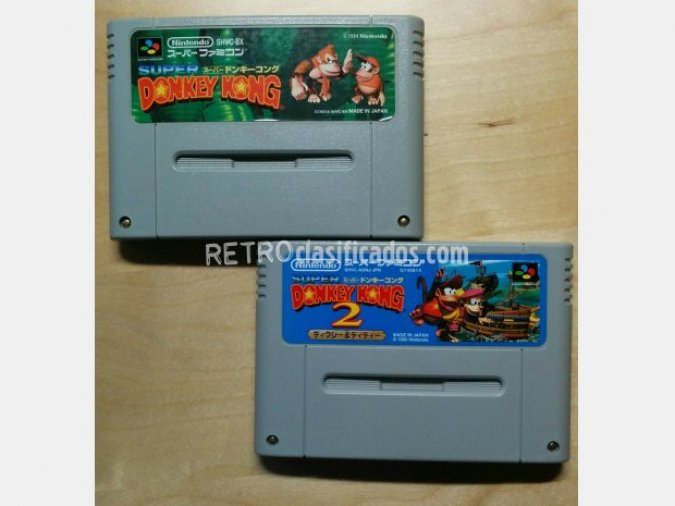 Pack 2 cartuchos Donkey Kong SFC