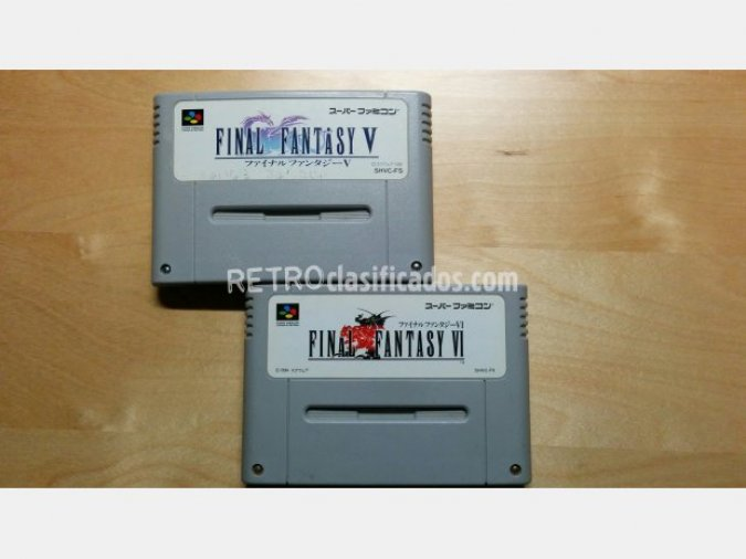 Pack 2 cartuchos Final Fantasy V i VI