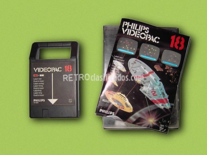 PHILIPS VIDEOPAC 18 LASER WAR