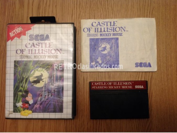 CASTLE OF ILLUSION MASTER SYSTEM PAL