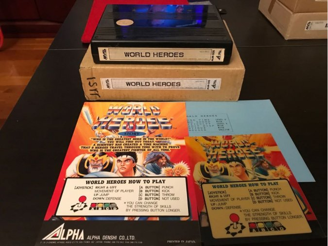 World Heroes Neo Geo MVS Kit SNK
