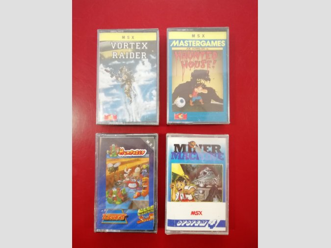 PACK JUEGOS MSX HAUNTED+VORTEX+MINER+HUMPHREY