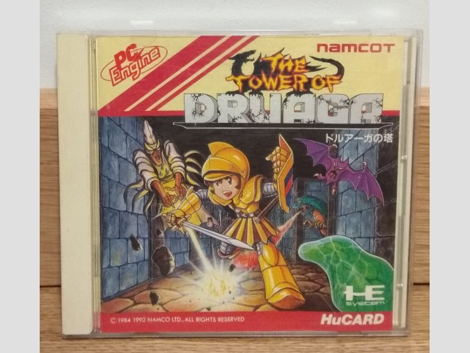 The Tower Of Druaga. PC-Engine HuCard