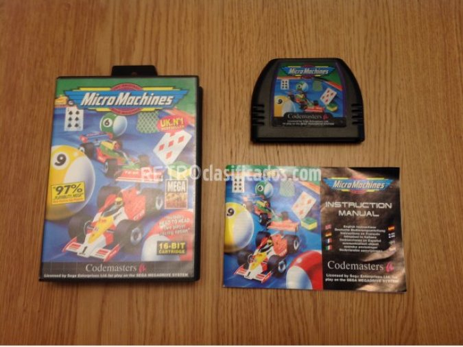 MICRO MACHINES MEGADRIVE PAL COMPLETO