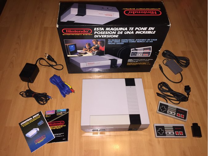Nintendo NES console system boxed