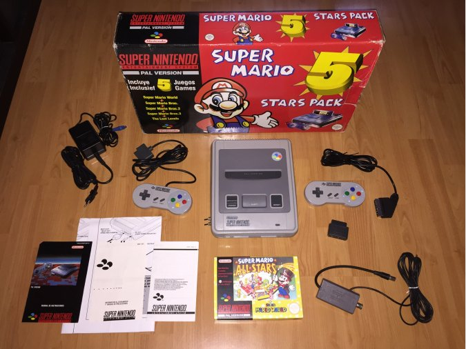 Super Nintendo console system boxed