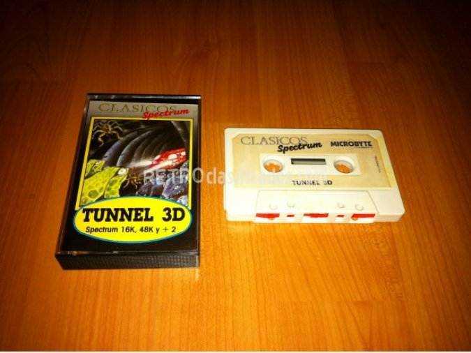 TUNNEL 3D Juego original de Spectrum