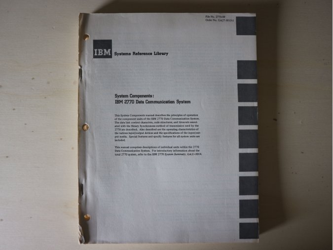 IBM 2701 Data Adapter Unit – Component Description