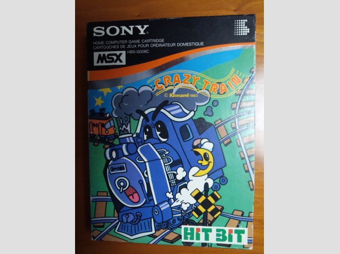 Juego MSX Crazy Train de Konami para HIT BIT de Sony