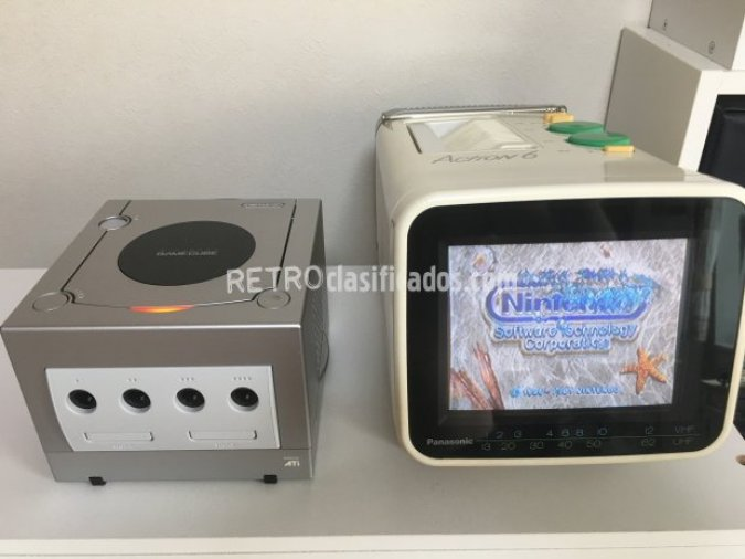 Nintendo Gamecube japonesa color plata
