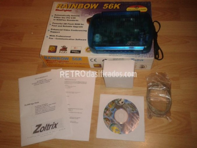 Modem 56k Rainbow Blue Fighte (COMPLETO)